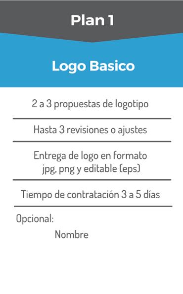 plan creación de logo básico
